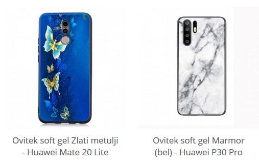Soft gel zaščitni ovitek za Huawei